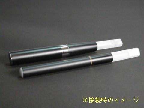 920アトマイザーを510バッテリーとeGo/eGo-Tバッテリーに接続したイメージ画像です。お使いの510やeGoをeGo-Tのようなリキッドを直接補充して使用するタンクシステムを採用した新しいタイプの電子タバコとして使用することができます。電子タバコ国内最安値水準aienmuenka.com(愛煙無煙家)