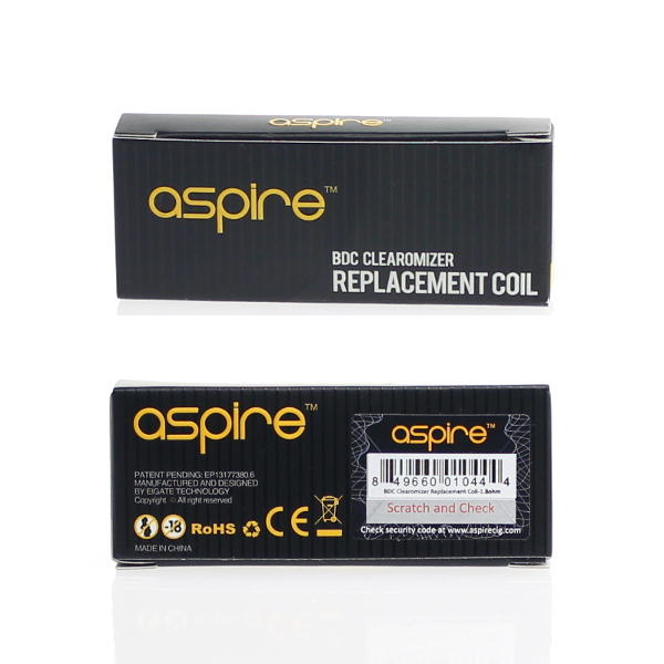 【Aspire】BDC Replacement Coils 1.8Ω(5個入り)